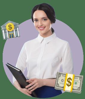 банк, девушка, банковский работник