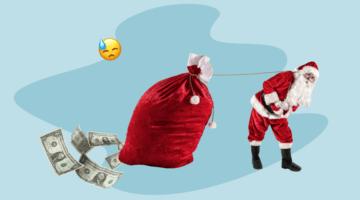 дед мороз, подарки, деньги