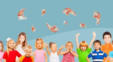 дети, деньги, 10 тысяч рублей
