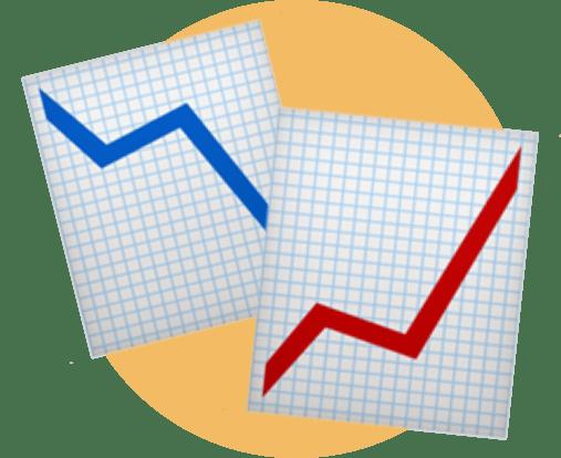 график роста-падения