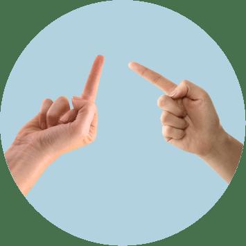 руки, угроза, средний палец