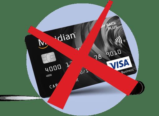 кредитная карта, зачеркнуто