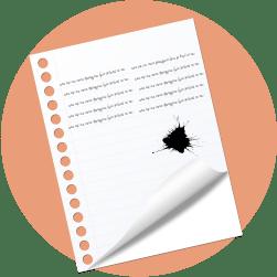 лист бумаги, клякса