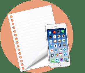 лист бумаги, телефон