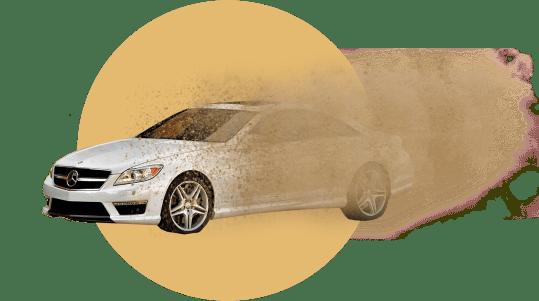 машина, песок