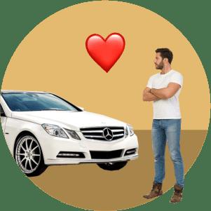 мужчина, машина, любовь