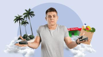 парень, кредитные карты, остров, пятерочка, продукты