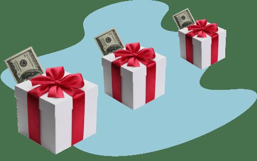 подарки, деньги