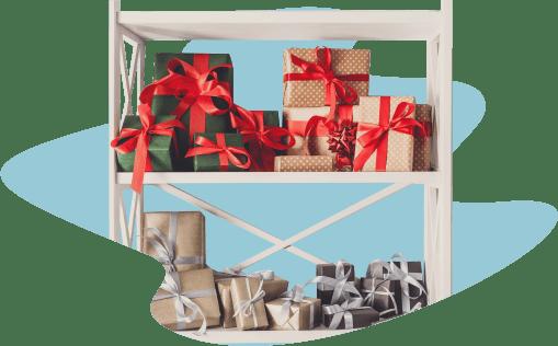 подарки, полка