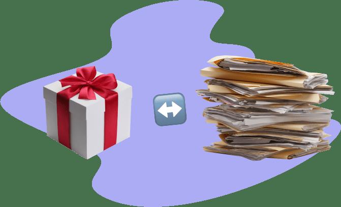 подарок, документы