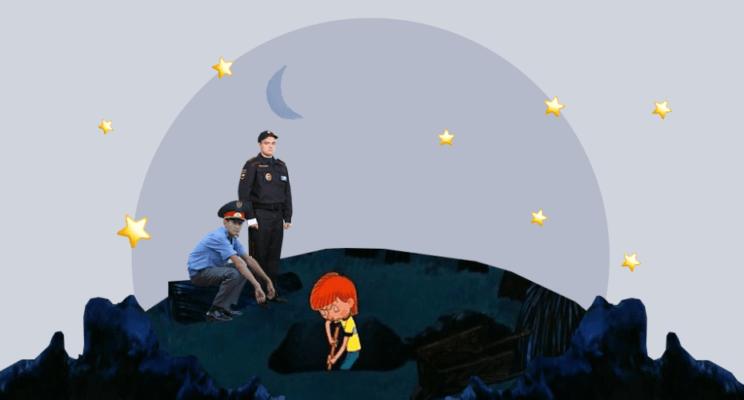 простоквашино, копает, милиционер