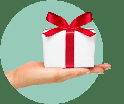 рука, подарок