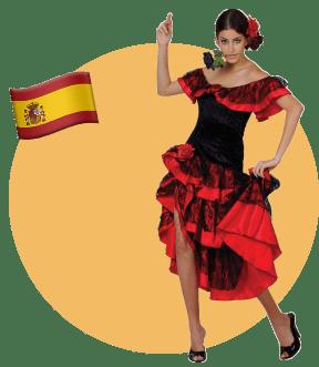 Испания, девушка, национальный костюм