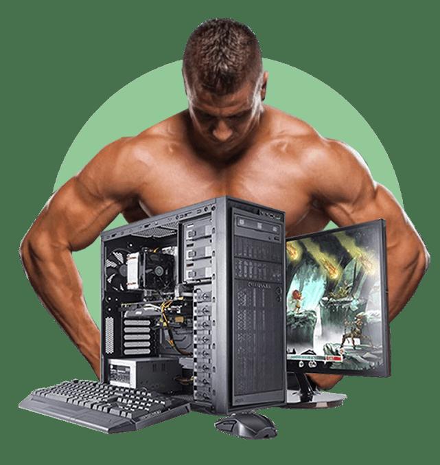 спортсмен и компьютер