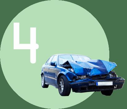 разбитая машина