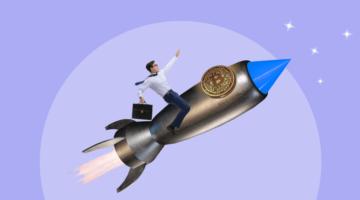 ракета вверх биткоин