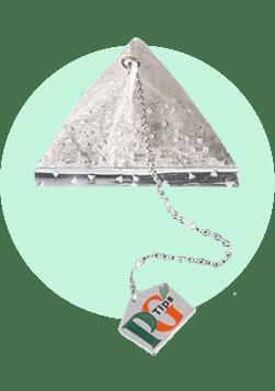 Чайный пакетик в алмазах