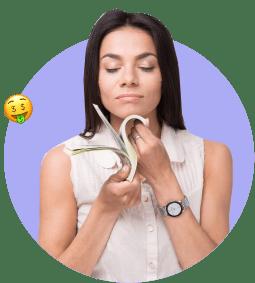 женщина деньги экономия