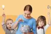 девушка копилка деньги дети идея