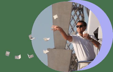 Дикаприо раскидывает деньги