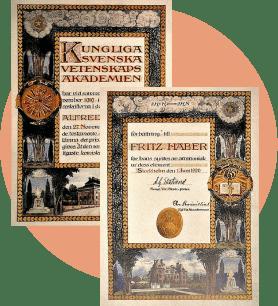 Диплом Нобелевской премии столетней давности