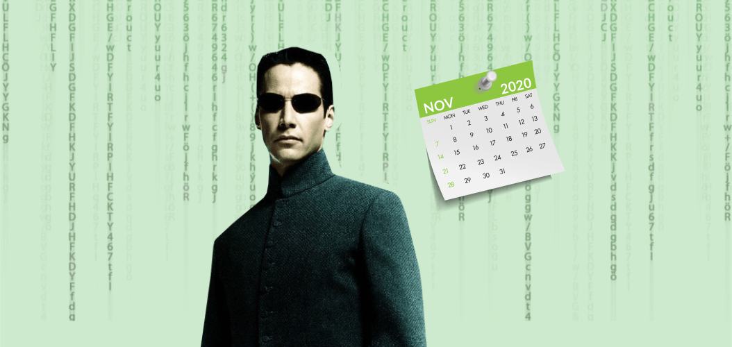 электронный ноябрь матрица календарь