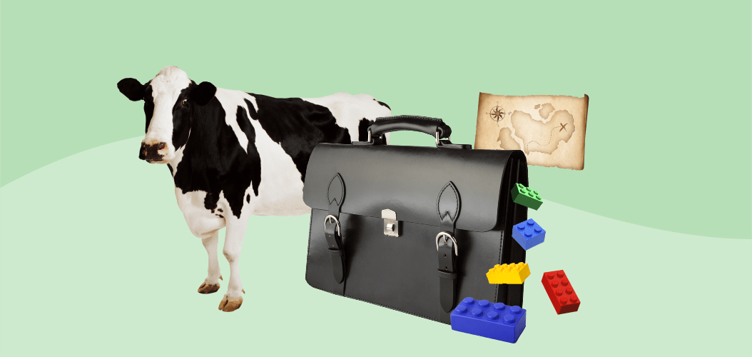 корова портфель лего карта сокровищ