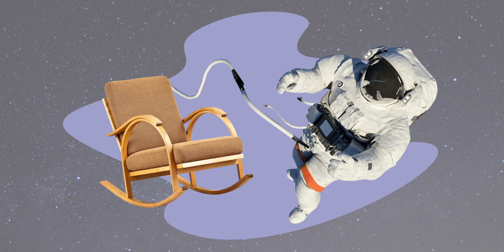 космос космонавт пенсия кресло качалка