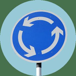 дорожный знак Круговое движение