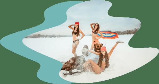 снег купальники