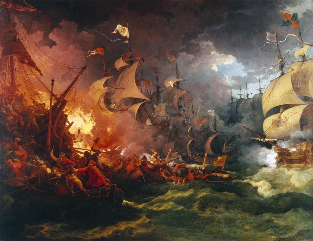 Ф. Я. Лутербург. Разгром Испанской армады (1796)