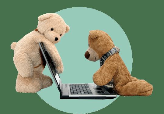 плюшевые мишки ноутбук