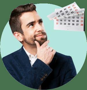 мужчина календарь