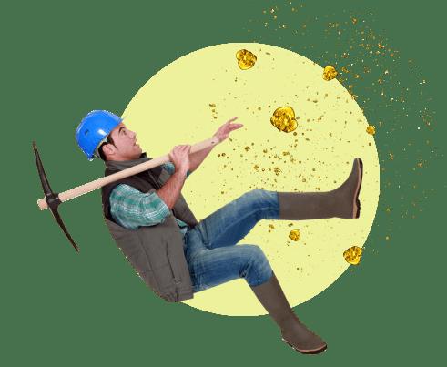 мужчина кирка золото
