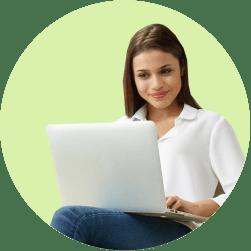 онлайн-регистрация девушка компьютер