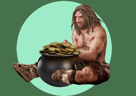 пещерный человек золото
