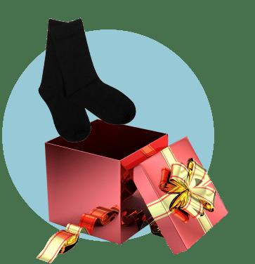 Носки в подарочной упаковке с бантиком