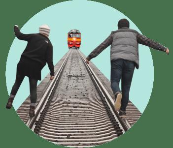 пути поезд