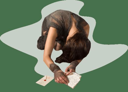 девушка-рабыня, письма