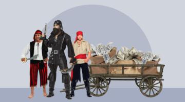 разбойники тележка денег