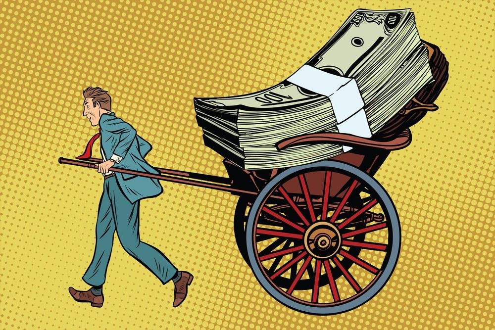 россияне снимают валюту со счетов