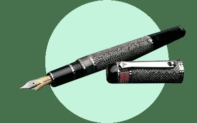 Перьевая ручка с черными бриллиантами