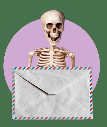скелет письмо