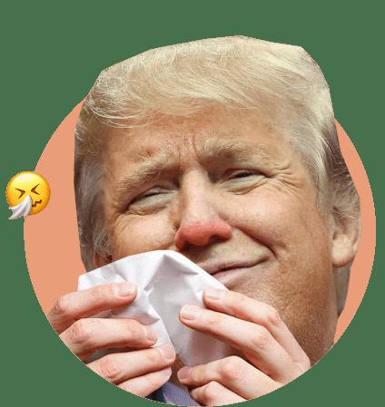 Трамп с носовым платком