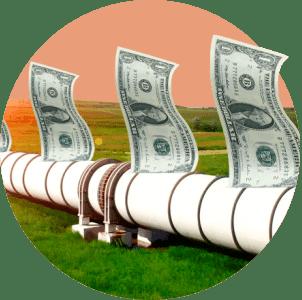 Трубопровод деньги