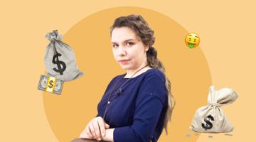 Екатерина Баева, деньги мешок денег