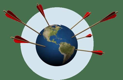 глобус-мишень, с дротиками для дартса
