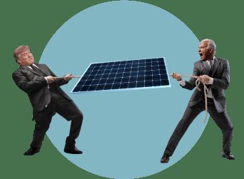 Трамп Байден солнечная батарея