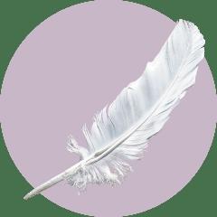 белое перо