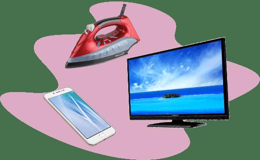 Телевизор, телефон, утюг